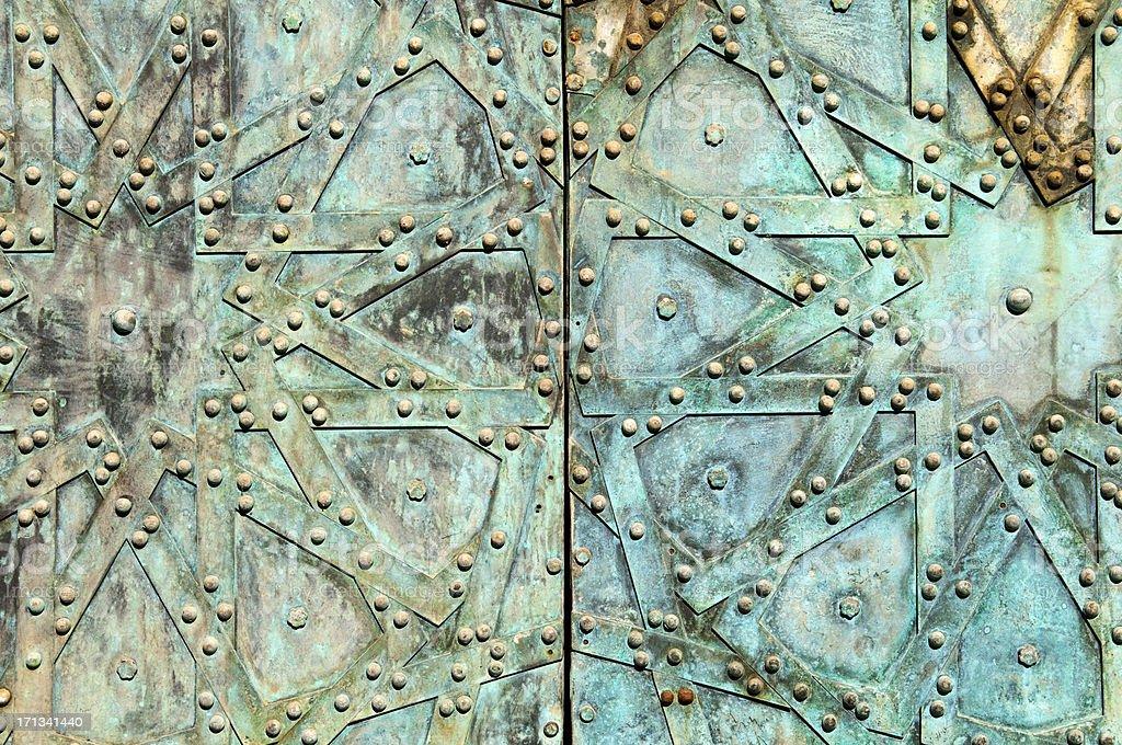 Old Arab design on door in Aleppo Syria stock photo