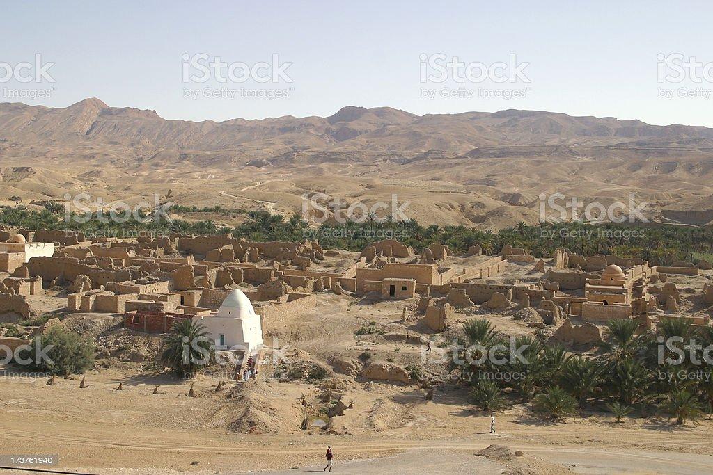 old arabian village stock photo