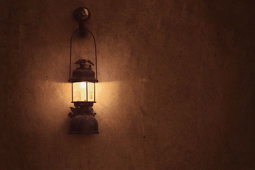 Old arabic lamp on the wall