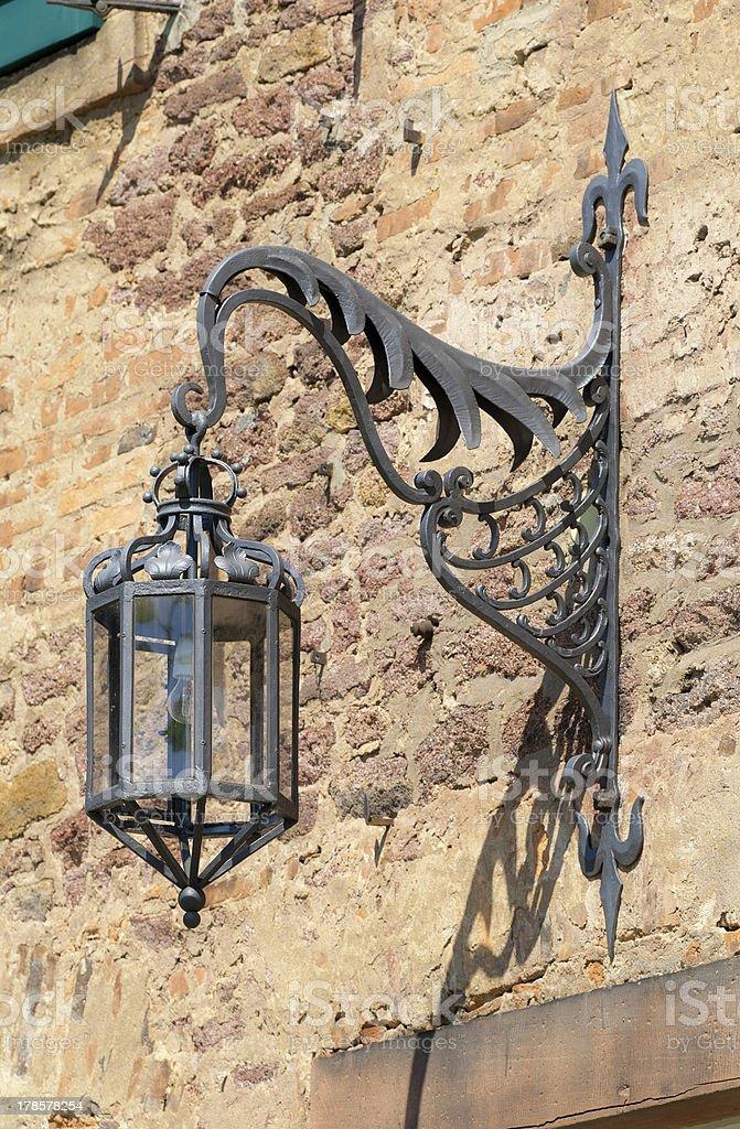 Old arc lamp stock photo