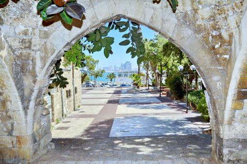 Old arches in Jaffa, Israel
