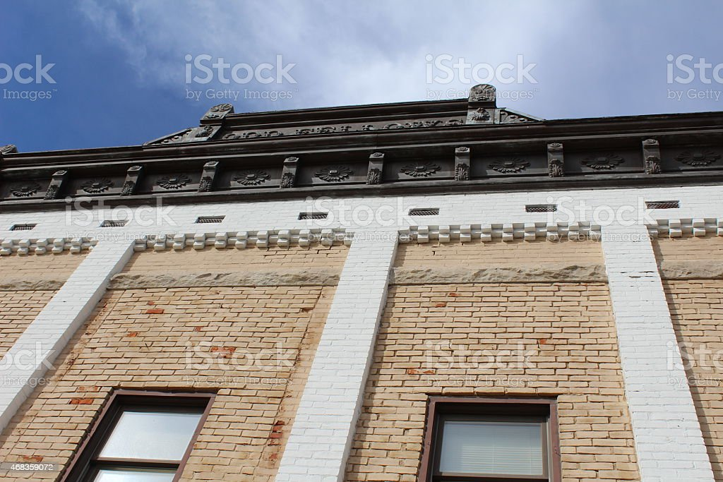 old Architecture and cloudy sky royalty-free stock photo