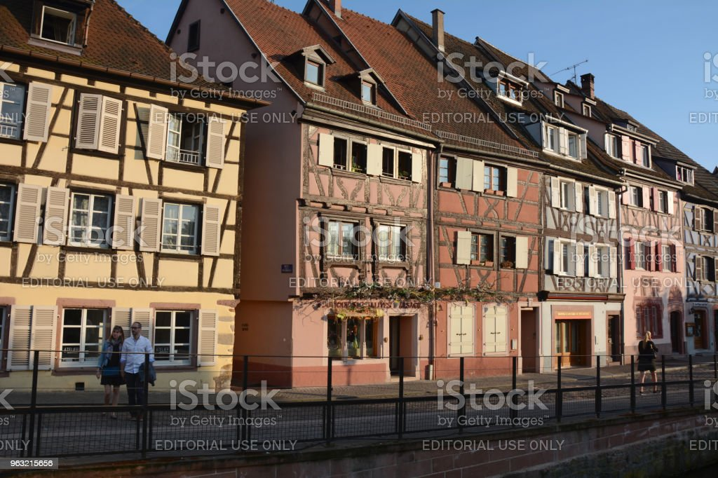 Old architecture buildings in Colmar, Alsace, France stock photo