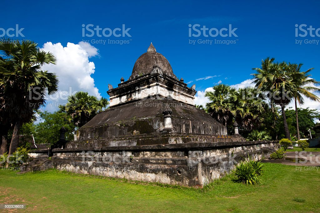 Old Architecture in Ancient Buddhist Temple III stock photo