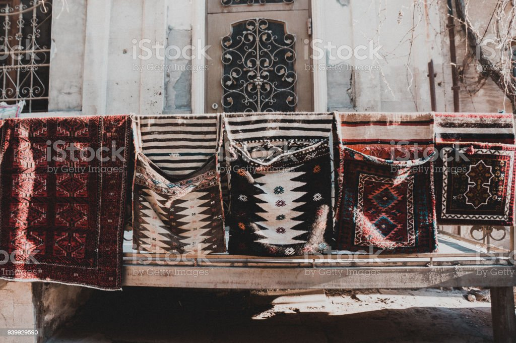 Old architecture of Baku, Azerbaijan stock photo