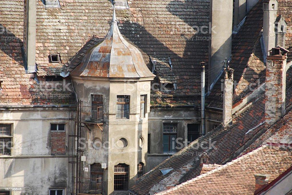 Old architecture, Sighisoara, Romania royalty-free stock photo