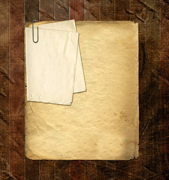 Old archive with letters, photos on  abstract grunge background stock photo