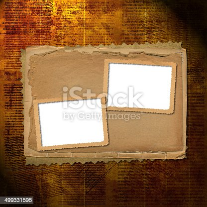 istock Old archive with letters, photos on the abstract background 499331595