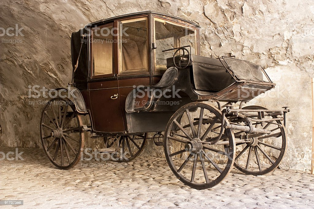 Old aristocrat carriage stock photo