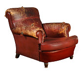 istock Old armchair of red color 1303459974