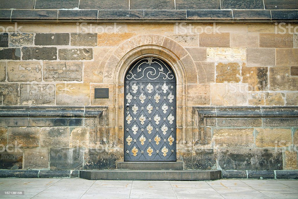 Old armored doorway. royalty-free stock photo