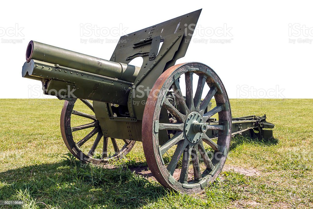 Old artillery cannon stock photo
