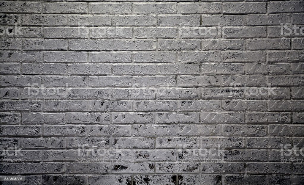 Old ascetic interior room with brick wall stock photo