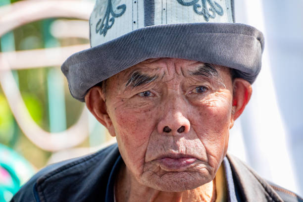 (Editorial use only) Old Asian man stock photo