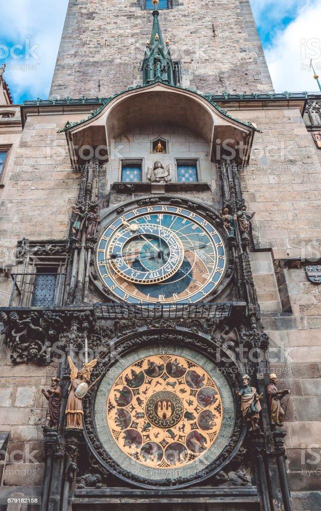 Vieille horloge astronomique de Prague, en République tchèque photo libre de droits