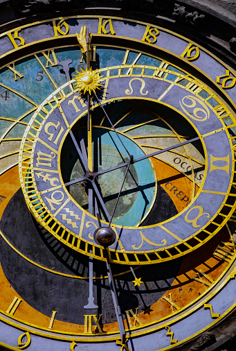 Alte Astronomische Uhr In Prag Stockfoto und mehr Bilder von Alt