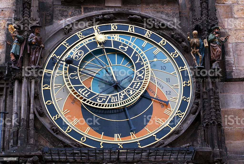 Old astronomical clock in Prague royalty-free stock photo