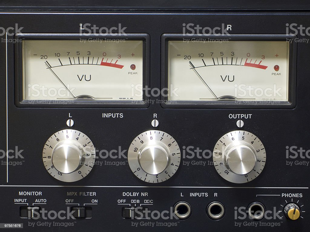 Old audio equipment royalty-free stock photo