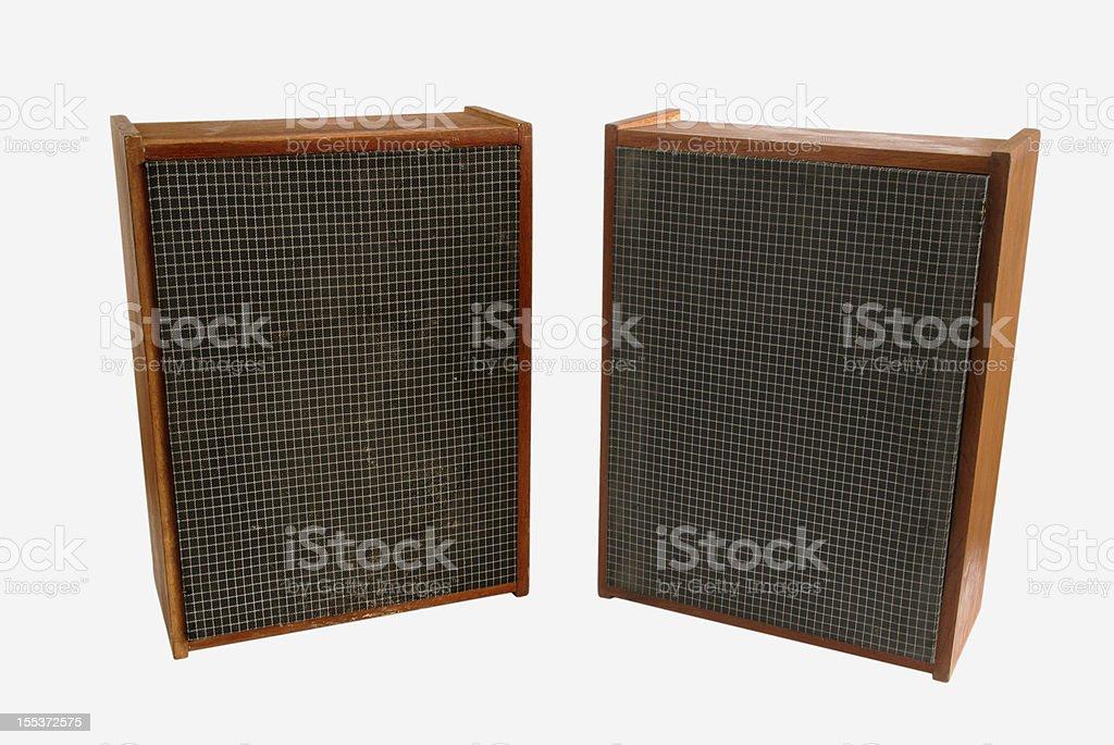 old audio speakers royalty-free stock photo