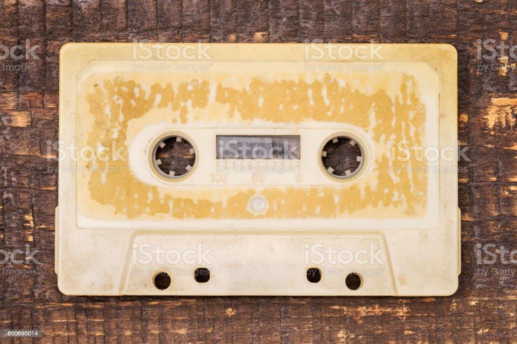 Old audio tape stock photo