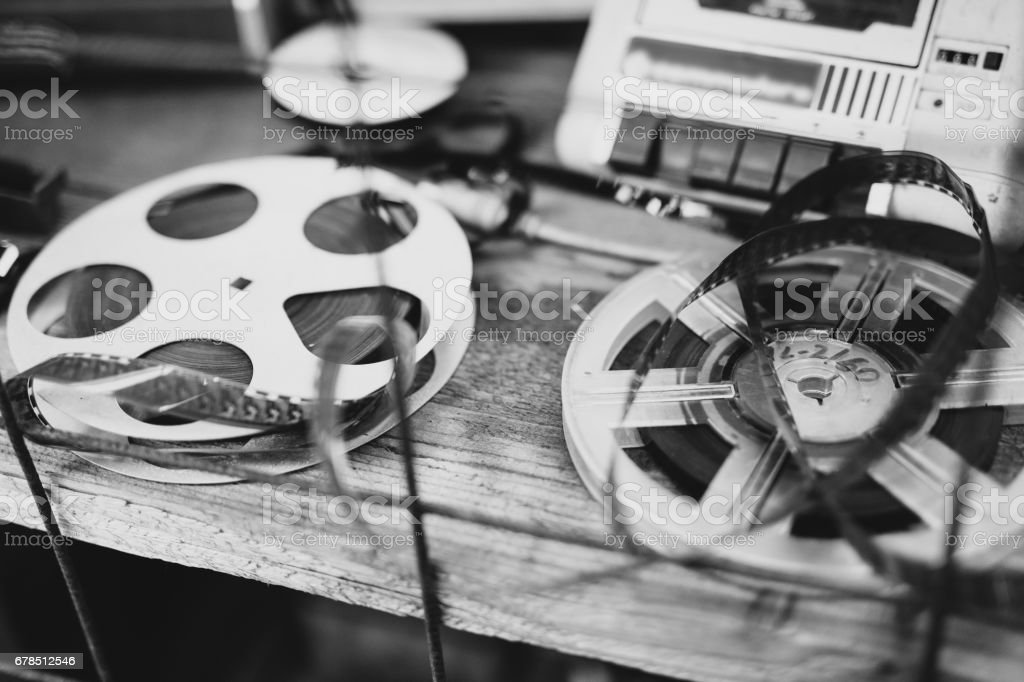 Old audio tapes stock photo