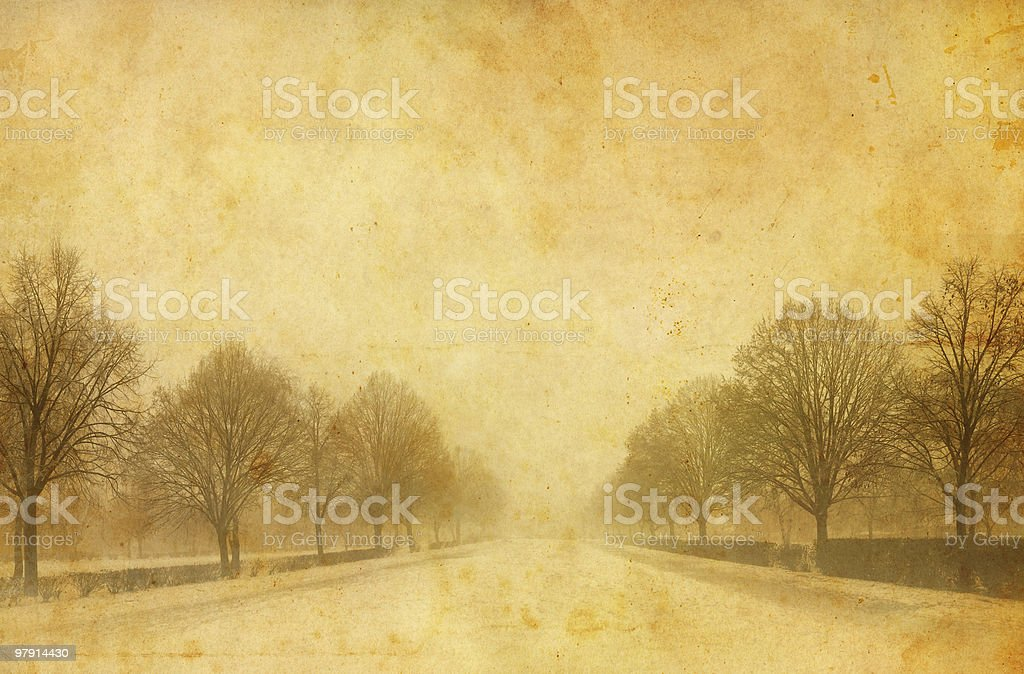 old avenue photo royalty-free stock photo