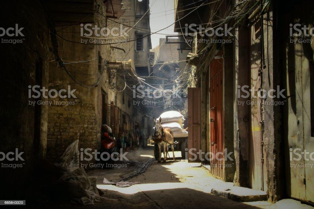 old baghdad street - foto de stock