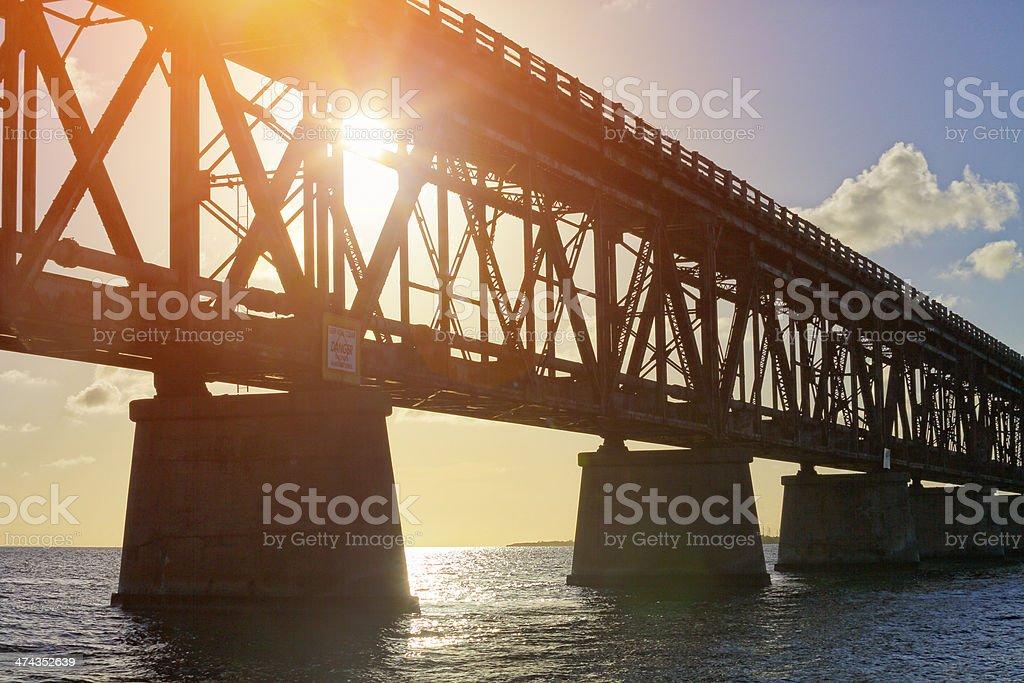Old Bahia Honda Bridge, Florida Keys stock photo