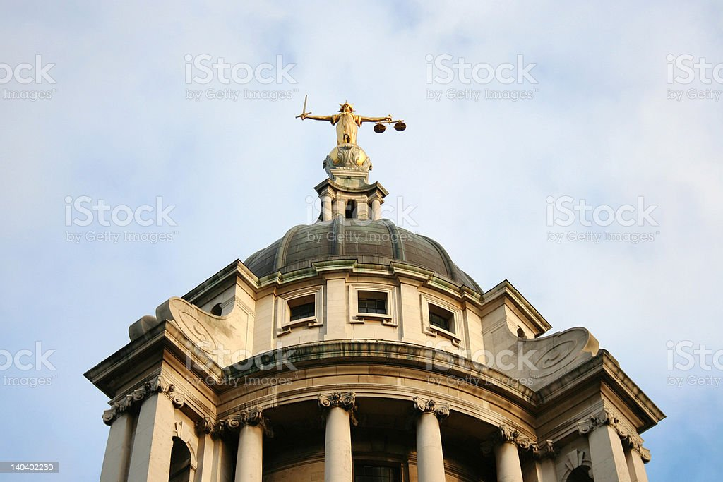 Old Bailey, London royalty-free stock photo