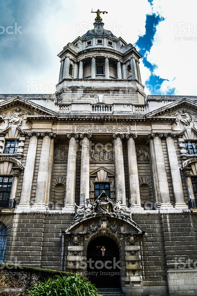 Old Bailey - London, UK stock photo