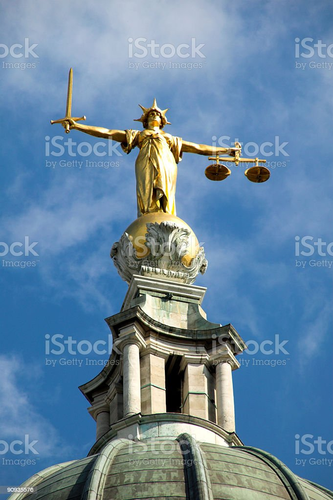 Old Bailey royalty-free stock photo