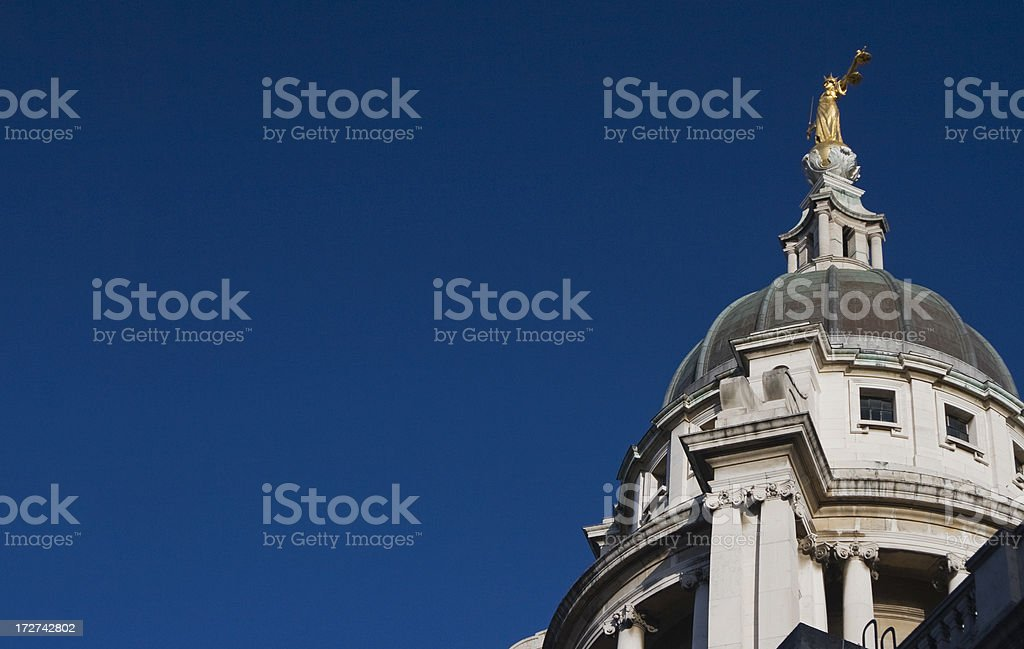 Old Bailey Rooftop stock photo