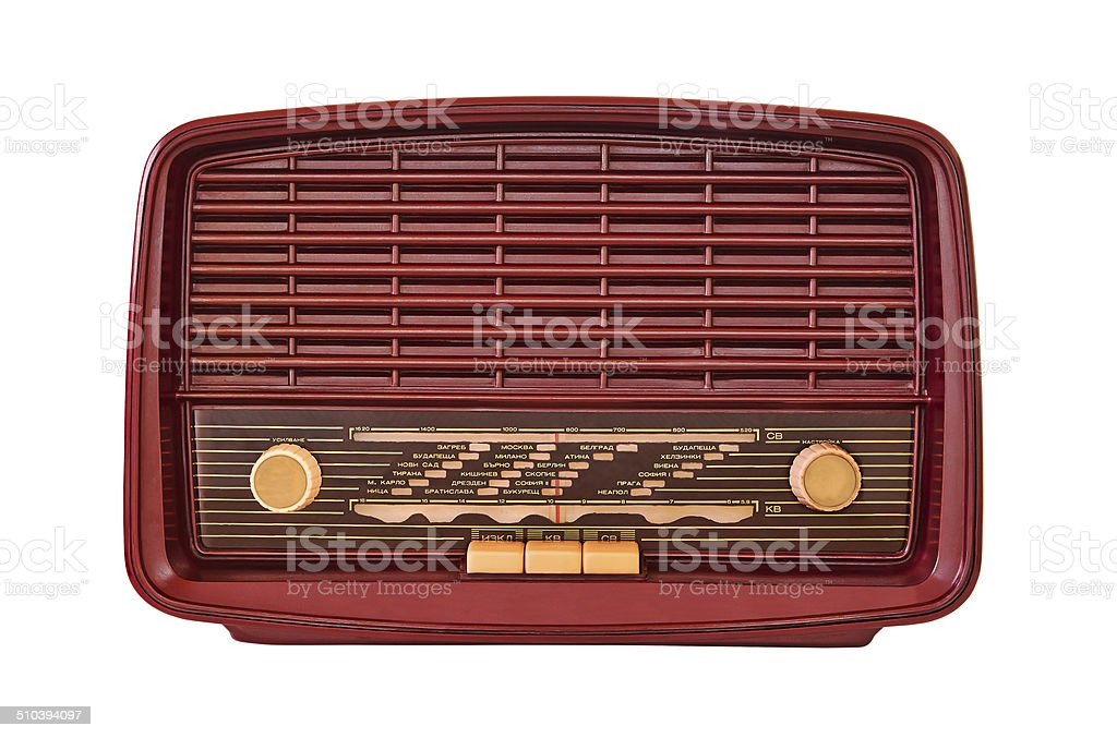 old bakelite radio royalty-free stock photo