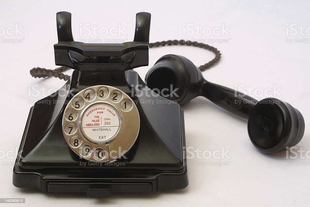 old bakelite telephone royalty-free stock photo