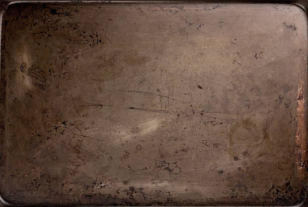 old baking sheet texture - bakplåt bildbanksfoton och bilder