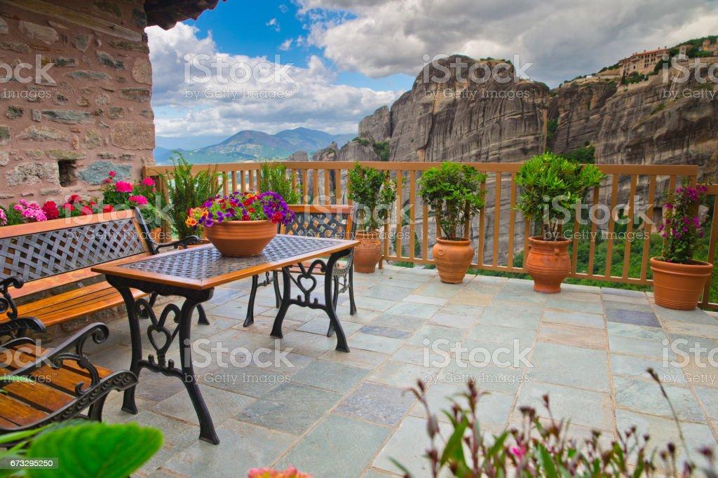 old balcony royalty-free stock photo