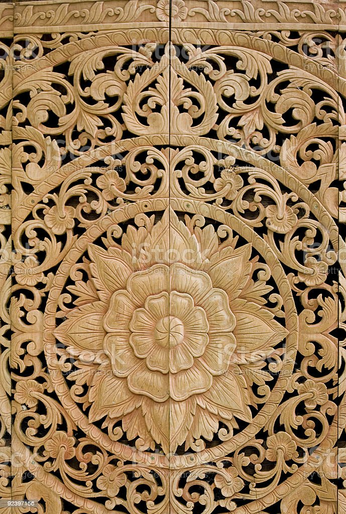 old balinese wood carving royalty-free stock photo