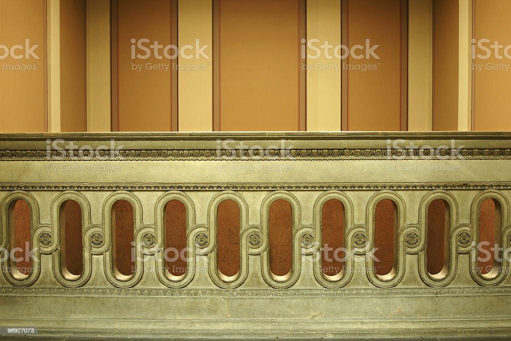 Old balustrade royalty-free stock photo