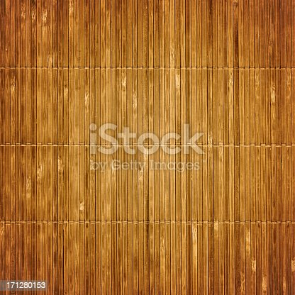 istock Old bamboo mat textured background 171280153