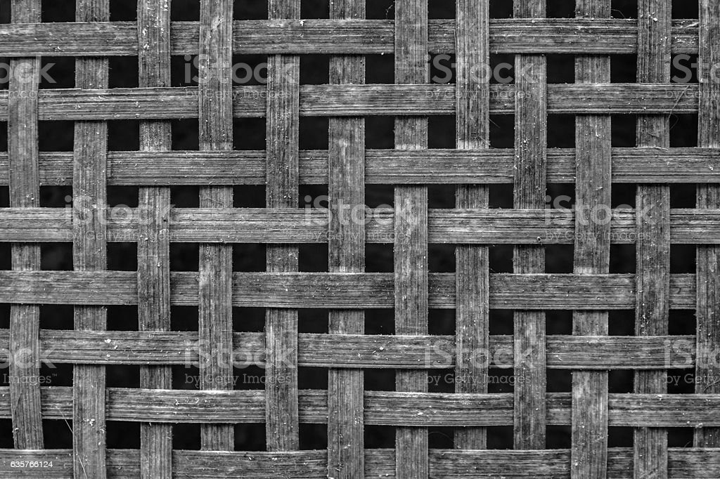 old bamboo weave background stock photo