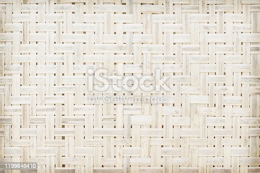Old bamboo woven , natural wood background