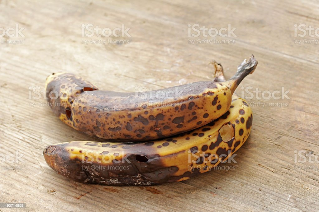 Old bananas stock photo