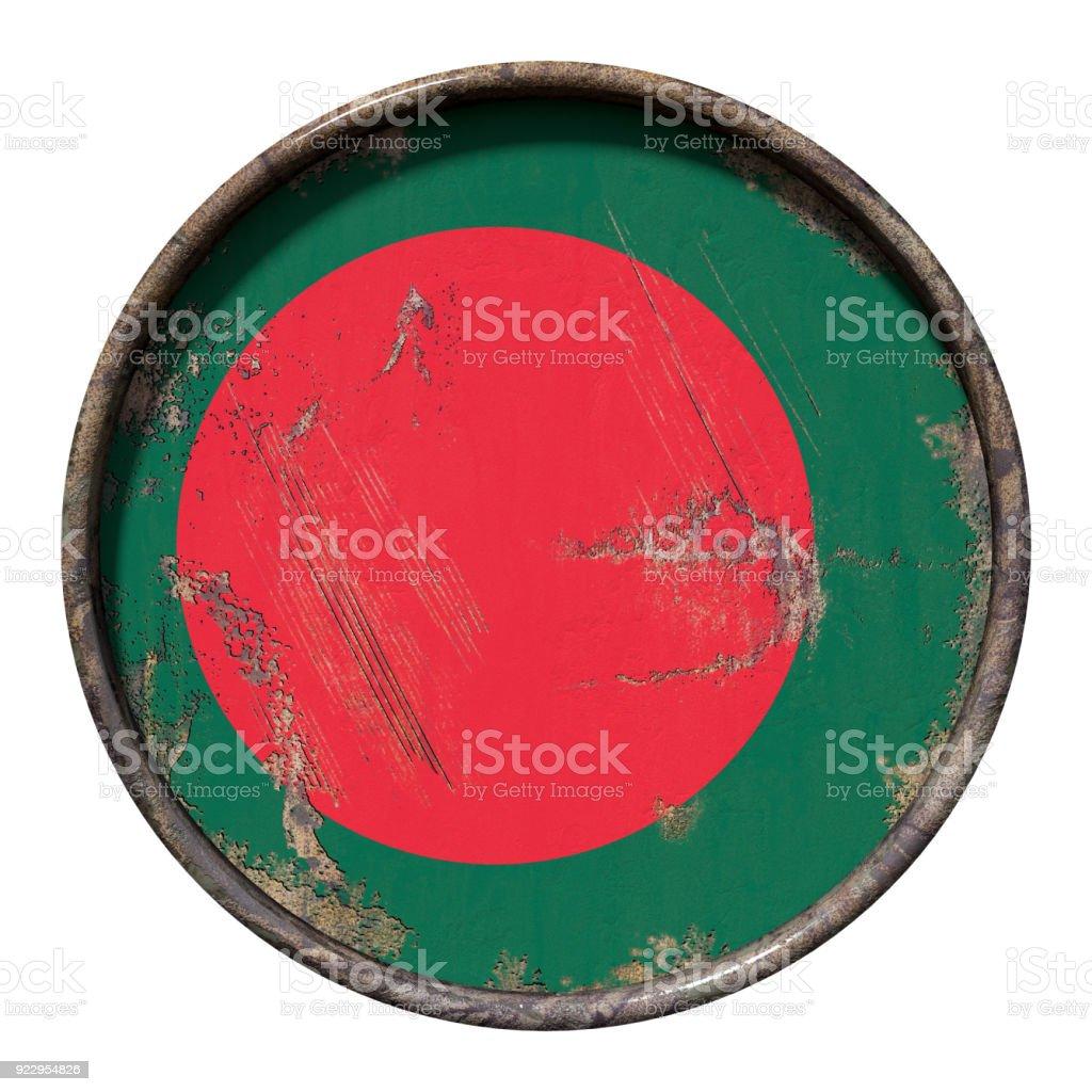 Old Bangladesh flag stock photo