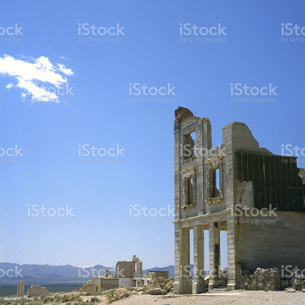 Old bank in ghost town royalty free stockfoto