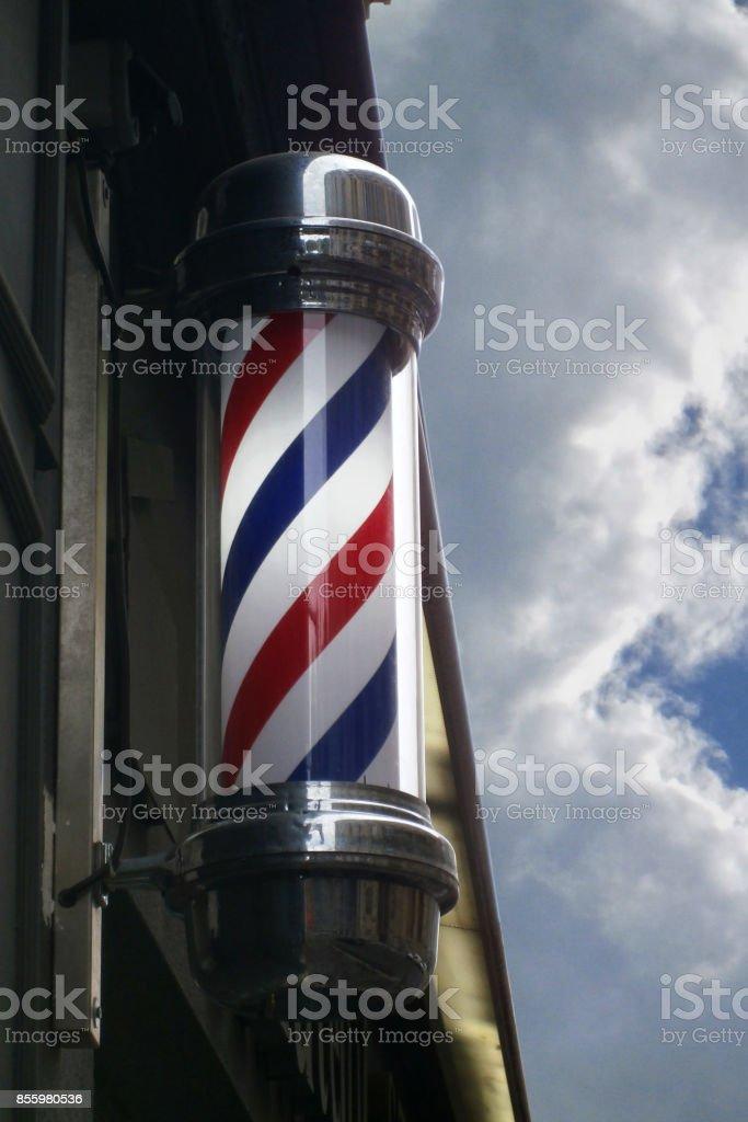 Old Barder Shop Pole stock photo