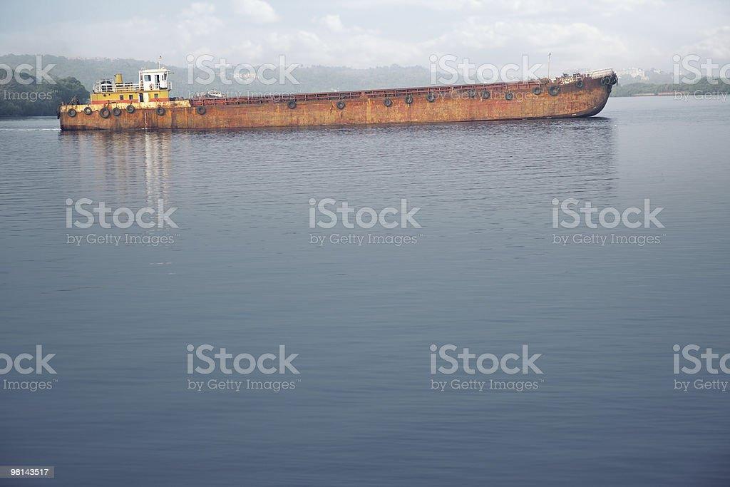 늙음 barge royalty-free 스톡 사진