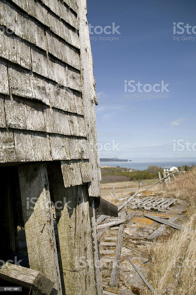 Old barn detail stock photo