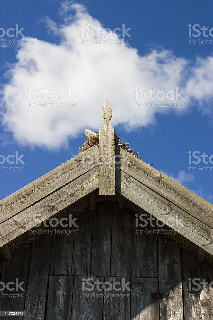 Old barn gable stock photo