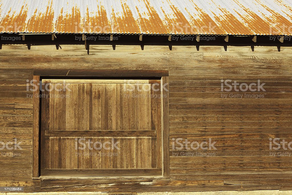 Old Barn Side. stock photo