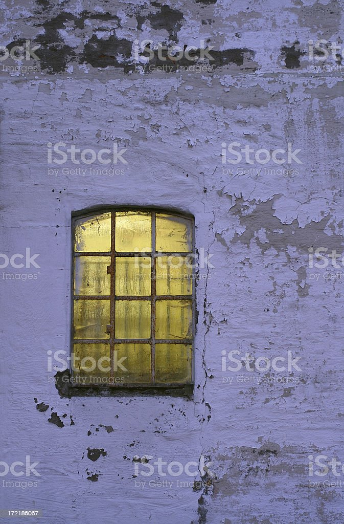 Old barn wall in the evening royalty-free stock photo